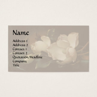 Magnolia Flowers Business Card