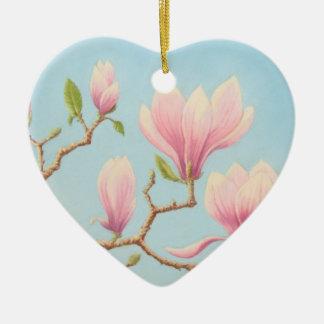 Magnolia Flowers in Bloom Thank You Bridesmaid Ceramic Ornament