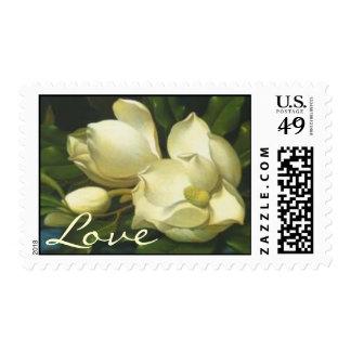 Magnolia Flowers Love Postage