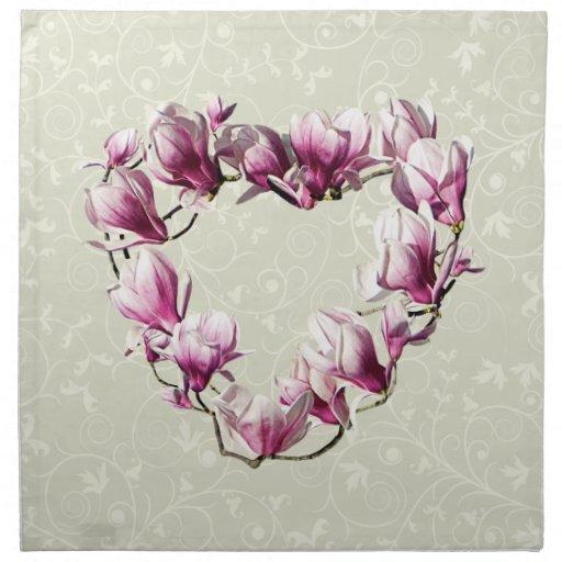 Magnolia Heart Cloth Napkins