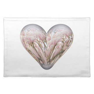magnolia heart cloth place mat