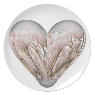 magnolia heart party plate