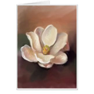 MAGNOLIA IN AMBER STATIONERY NOTE CARD