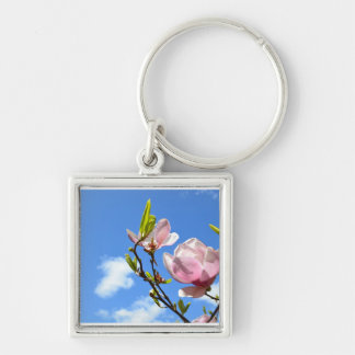 Magnolia in the Sky Keychain
