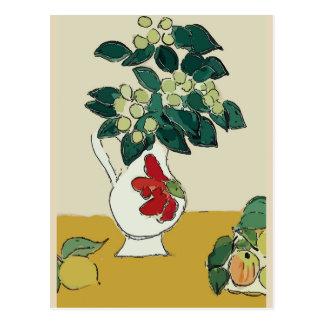 Magnolia in Vase, after Matisse Postcard