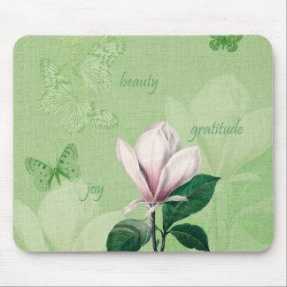 Magnolia inspirada floral tapetes de ratón