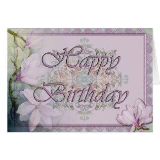 Magnolia & Lace Birthday Card