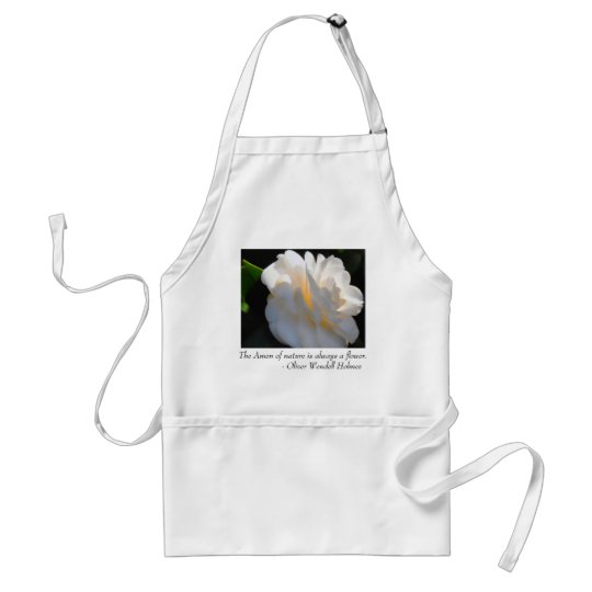 Magnolia Light Flower Quote Apron
