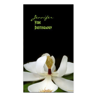 Magnolia, macro photography business cards