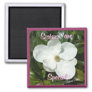 Magnolia magnet-customize 2 inch square magnet
