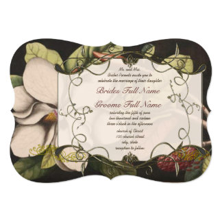 Magnolia Marsala Mulled Wine Wedding Invitations