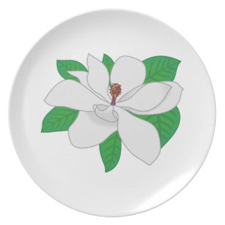 Magnolia Melamine Plate