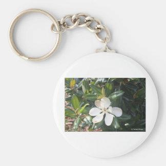 Magnolia meridional dulce de Georgia Llavero Redondo Tipo Pin