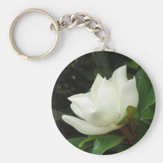 Magnolia meridional llavero redondo tipo pin