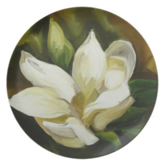 Magnolia meridional plato para fiesta