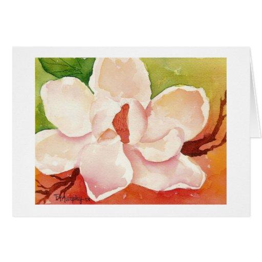 Magnolia Notecard Tarjeta De Felicitación