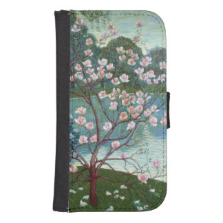 Magnolia (oil on canvas) phone wallet
