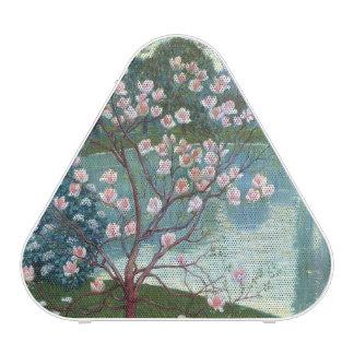 Magnolia (oil on canvas) speaker
