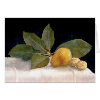 Magnolia, peras y nueces felicitación