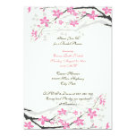 Magnolia pink flowers bridal shower invitation personalized announcements