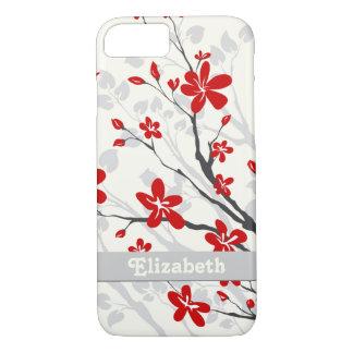 Magnolia red flowers floral custom iPhone 8/7 case