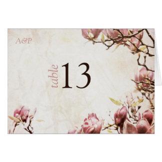 Magnolia romántica del vintage tarjeton