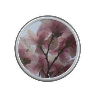 Magnolia rosada floreciente altavoz bluetooth