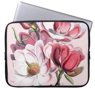 Magnolia rosada manga portátil