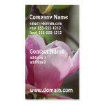 Magnolia rosada plantillas de tarjetas de visita