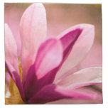 Magnolia rosada servilleta imprimida