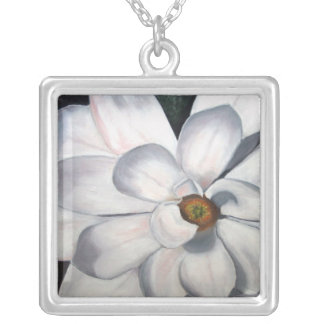 Magnolia Silver Plated Necklace