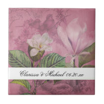 Magnolia Song Personalized Tile