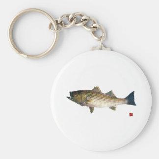 Magnolia Striped Bass Keychain