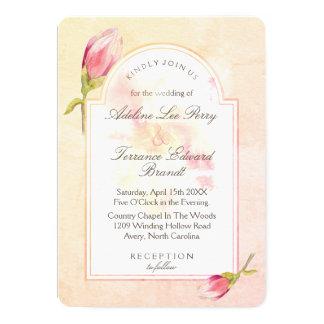 Magnolia Sunrise Watercolor Invitation