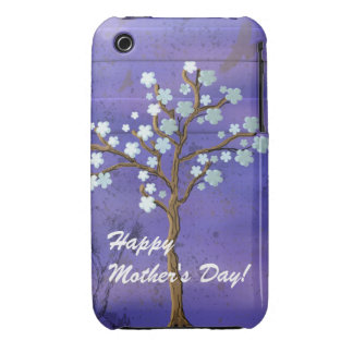 Magnolia Tree & Blue Background Blackberry Bold iPhone 3 Cover