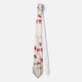 Magnolia Tree by Kobayashi Kokei, Vintage Nature Neck Tie