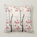 Magnolia Tree by Kobayashi Kokei, Vintage Nature Throw Pillows