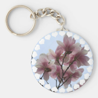 Magnolia Tree in Bloom Keychain