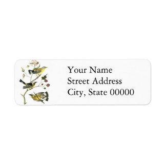 Magnolia Warbler, John Audubon Custom Return Address Labels