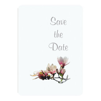 Magnolia Wedding Day Theme Save the Date Card