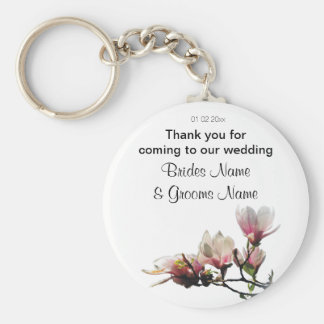 Magnolia Wedding Souvenirs Keepsakes Giveaways Keychain