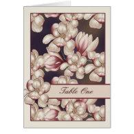 Magnolia Wedding Table Cards Magnolias