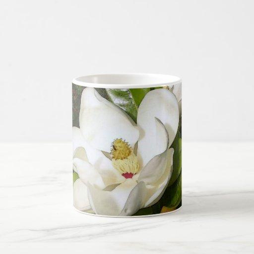 Magnolia White Coffee Mug