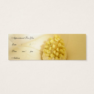 Magnolia white mini business card