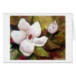 Magnolia y flor felicitación