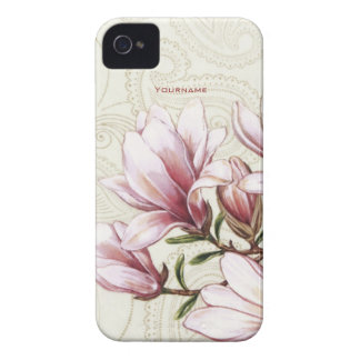 Magnolia y Paisley iPhone 4 Case-Mate Coberturas