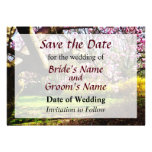Magnolias and Forthysia Save the Date Custom Announcements