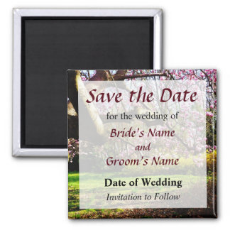 Magnolias and Forthysia Save the Date Magnet