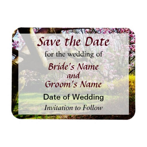 Magnolias and Forthysia Save the Date Flexible Magnets