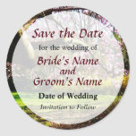 Magnolias and Forthysia Save the Date Round Stickers